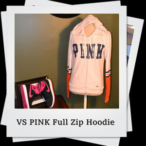 EUC | PINK Victoria's Secret Full Zip Hoodie